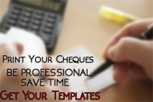 Cheque Printing Template